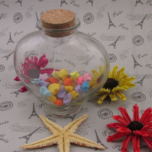 2015 new arrival wedding invitations glass bottle/ glass bottle with cork