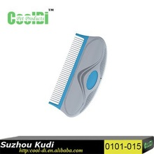 Pet flea comb for dog or cat pet comb with rotatable pin 0101 - 015