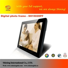 high quality 15 inch car / bus / metro commerical digital photo frame