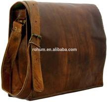 real leather shoulder messenger man bag