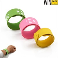 OEM sports cheap personalized custom silicone slap bracelet