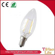 LED Filament Candle bulb Designed according to traditional Edison lamps plus led lights led filament candle bulb