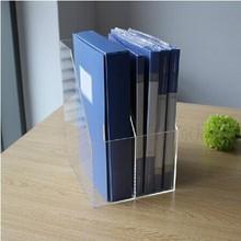A-1493 Acrylic file organiser, acrylic files holder, plexiglass file box