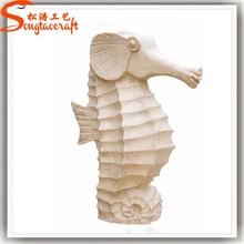 Modern Garden Sculpture Decoration Stone Hippocampus Sculpture