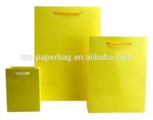 custom printed paper bags carry bag printing yellow