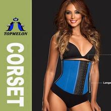 Made in china cheap price 3 hooks latex rubber waist training cincher corset