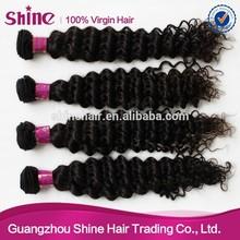 Wholesale Peruvian 5A Grade Deep Wave 100% Human Virgin Human Hair No Shedding,No Tangle