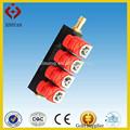 De alta calidad de inyección secuencial ngv kits de conversión de gnc/glp inyector de ferrocarril 4~8 del cilindro