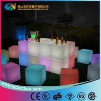 Light led cube seat glowing led cube seat with led light