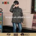 verde militar de venta al por mayor a granel abajo chaqueta de diseñador de ropa para los niños