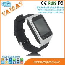mini small size mobile phone dual sim 5MP camera 12GB ROM hand watch 1.54 inch screen 3G smart watch phone