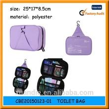 Foldable hanging toiletry bag/makeup bag