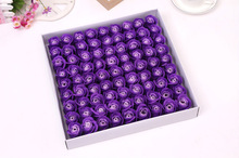 Wholesale Scented Love Pretty Carving purple Color Rose Flower Soap