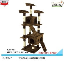 Anji Kaifeng Top sell European style Cheap Cat Tree 60X55X182CM , KF8027