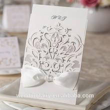 2015 High Quality laser cut wedding invitation card