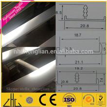 Wow!! aluminium wardrobe trim profiles manufacturer/shining aluminium trim profile for UV sheet/importers of trims from china