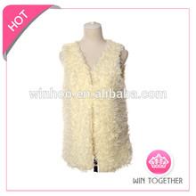 women rabbit fur vest fashion 2015 for girl fur hood vest
