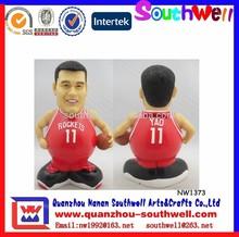 Custom NBA Player Yaoming Money Box/Coin Bank For Souvenir