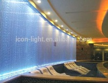 multi color curtain swimming pool floor fiber optic