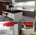 Cuisine modulaire prix d'usine de haute laqué brillant modèles de cuisine modulaire
