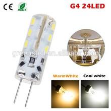 Super Bright G4 24LEDs 3014 SMD LED Light Corn Lamp Bulbs g4 led 12v