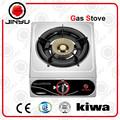 Venta caliente de un solo quemador de 0.3 mm de acero inoxidable estufa aparato de cocina de la estufa de gas cocina