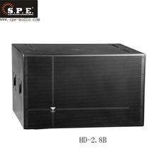 SPE HI-end high power 1400 W dual 18 inch subwoofer speakers Cloth-edge paper cone speaker for ktv bar Cinema