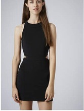 Side Cage Cut-Out Bodycon Dress