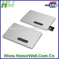 Customize Printing Metal Slip Slim Credit Card Shape Usb Flash Drive Disk Pen Stick
