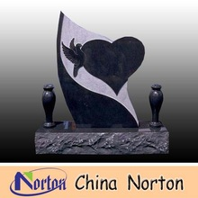animal bird decorative tombstone polishing heart shaped headstone NTGT-076