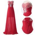 grace karin decote sem alças querida frisado longo de lantejoulas vermelhas grávidas vestidos de baile cl6001