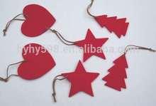 15012310 2015 hot sell handmade felt laser cut christmas decoration made in China