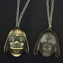 Movie Jewelry 2 Color Star Wars Darth Vader Mask pendants Jewelry Man Free Shipping Necklace & Pendant