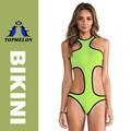 2015 topmelon fábrica( t155) das mulheres oca com uma peça de swimwear do biquini em verde