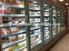 multidoor beverage display cooler/supermarket display refrigerator for chain store/CVS
