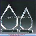Hermoso cristal blanco trofeo, personlized de cristal en blanco para premio pendientes