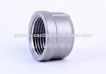 screwed stainless steel round cap