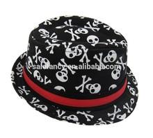 Cheap Men Women Black Cotton Cap Fedora Trilby Gangster Panama hat QHAT-2217