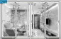 living room partition door, half light glass door
