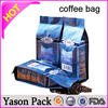 yason hot coffee bags with degassing valve costa rica unroasted coffee beans flat bottom laminated mylar colorful printing tea b