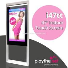 indoor 47 inch touch screen digital menu display screen in restaurant bar