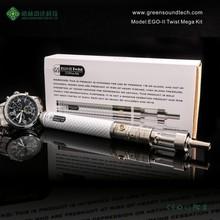 2015 Wholesale dry herb vaporizer pen Ego II Twist Mega kit gs vaporizer cigar ego 2200 kit with free sample free shipping