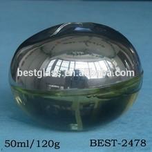 50ml china manufacturer shining black egg shaped perfume bottle; high quality, nice shape