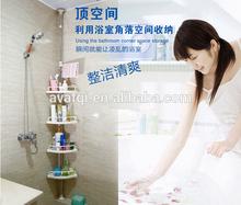 AVAFQI storage shelf 2015 hot sale bathroom rack plastic shower caddy with handle