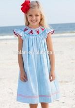 2015 wholesale children elegant clothing lobster bishop smocked fashion design kid clothes