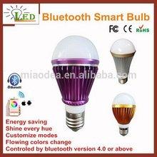 Top quality promotional bluetooth led bulb e27 fitting