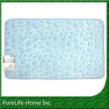 Coral Fleece Stone Embossed Memory Foam Anti Fatigue Mat