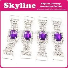 hottest purple color shamballa rhinestone connectors for decoration