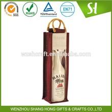 jute wine bottle bag fabric gift bag/Handy Eco jute Wine Tote bag