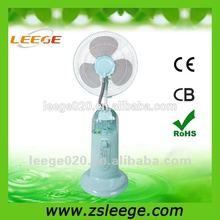 FP-1603G 16'' pedestal mist electric water fan outdoor floor fan